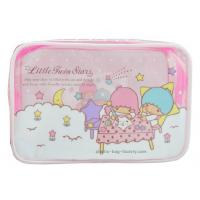 Quality 0.25mm Transparent Zipper Cosmetic Bags Cartoon Character Pattern For Travelling for sale