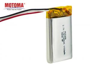 Buy cheap 1100mah 3.7V Motoma Batteries , LED Light Lithium Battery With PCM And Connector product