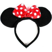 Disney Headband Hat - Plush Minnie Mouse Ears Costume Accessory With Bow For Party
