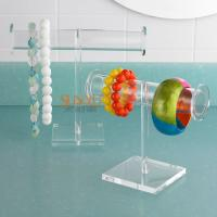 Buy cheap T Bar Jewellery Display Stands Acrylic Bracelet Necklace HolderCrystal Glass  Big Round Tube product