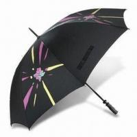 Buy cheap London 2012 Golf Umbrella with Fiberglass Frame, Made of Recycled Polyester product