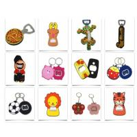 Stainless Steel Bottle Opener with Rubber Coated Personalized Beer Cola Keyring Bottle Opener