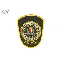 Buy cheap Embroidered Iron On Fabric Patches , Police Armband Embroidered Patches product