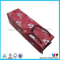 Buy quality Luxury ivory board / card Personal Custom Wine Bag With Handles at wholesale prices