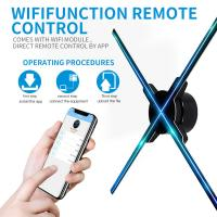 Buy cheap 65cm wifi hologram light player 3D LED fan hologram display rotating rotational display not holographic projector product