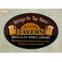 Buy cheap Vintage Style Club Wall Sign With Resin Beer Photo product