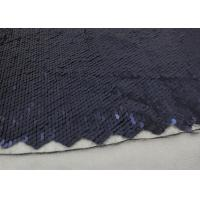 Buy cheap Navy Sequin Mesh Fabric , Embroidered Lace Fabric By The Yard For Evening Dresses product