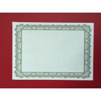Buy cheap 95g Specialty Paper Printable Blank Certificates Silver Foil Stamping Type product