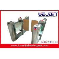 Buy cheap Acrylic plate Arm Turnstile Entry Swing Barrier Gate Systems With Dry Contact Interface from wholesalers
