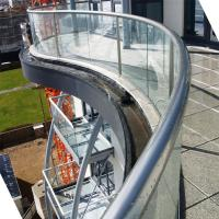 Buy cheap Arched Tempered Glass Railing / Aluminum U Channel Railing / Curved Glass Balustrade product