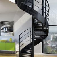 Buy cheap Indoor / Outdoor Powder Coated Black Metal Spiral Staircase Price / prefab Stairs product