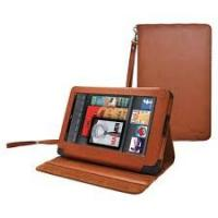 Buy cheap Brown OEM Leather Folding Amazon Kindle Fire Ereader Covers and Case for tablet  7'' product