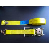 Buy cheap WLL 3335 LBS Polyester Heavy Duty Ratchet Tie Down Straps With Blue / White Label product