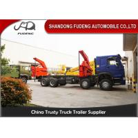 Buy cheap 20 Feet Side Lifting Container Trailer Truck , XCMG 37 Ton Crane With Slide product