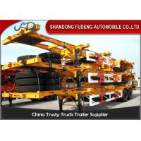 Buy cheap 40 Feet Flatbed Skeleton Shipping Container Trailer Mechanical / Air Suspension product