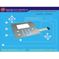 Buy cheap Black Texture Membrane Sticker 3M 467MP With Led Window , Embossed Printing product