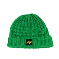 Buy cheap High Quality ACE Factory Price ODM OEM Solid Green Color Unisex Adjustable Custom Logo Beanies Knitted Cap product