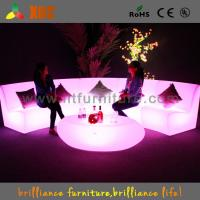 Waterproof Wedding LED Sofas Wireless Remote Control With Table