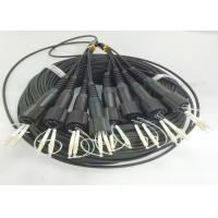 Buy cheap 8 Core Outdoor Fiber Optic Cable / Singlemode Or Multimode Fiber Optic Cable product