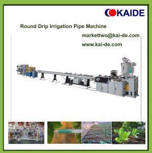 Round drip irrigation pipe making machine with highest speed in China