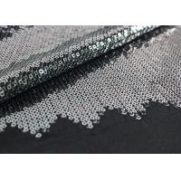 Buy cheap Embroidered Mesh Lace Fabric With Silver Sequin , Bridal Lace Fabric By The Yard product