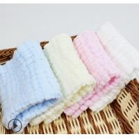 Buy cheap 100% Cotton Baby Towel Muslin Wash Cloth Face Cleaning Strength Water Absorption product