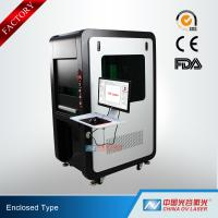 Buy cheap 100W Fully Enclosed Fiber Laser Marking Machine for Printing Logos on Stainless Steel Aluminum product