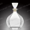 SGS Cork Sealing White Glass 750 Ml Whiskey Bottle for sale
