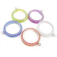 Buy cheap magnetic closure 316L stainless steel color 30mm plain memory glass locket pendant product