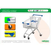 Buy quality 60L to 270L Supermarket European style Shopping Trolleys wheels A Series HBE-A-80L at wholesale prices