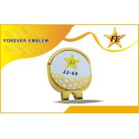 Buy quality 2D / 3D Zinc Alloy Golf Ball Marker Hat Clip Magnetic For Companies Gift at wholesale prices