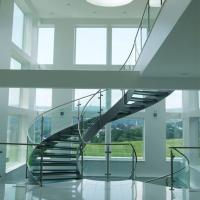 Buy cheap Good Price Commercial / Residential Stainless Steel Prefabricated Curved Stairs product