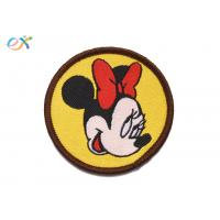 Buy cheap Mickey Mouse Custom Woven Patches Polyester Background For Clothing Logo product