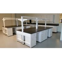 Buy cheap C - Frame Chemical Resistant Modular Laboratory Furniture With Hanging Cabinets & Shelf product