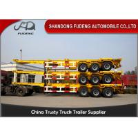 Buy cheap 3 Axles Chassis Container Trailer 20ft / 40ft Containers Transporting product