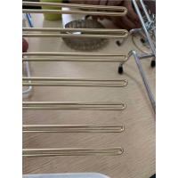 Buy cheap Imitating Gold Plating Stainless Steel Wire Forming For Custom Products Golden Surface product