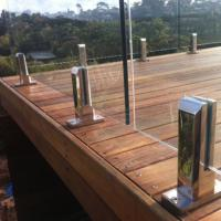 Buy cheap New model durable prefabricated stainless steel railing design with glass balustrade product