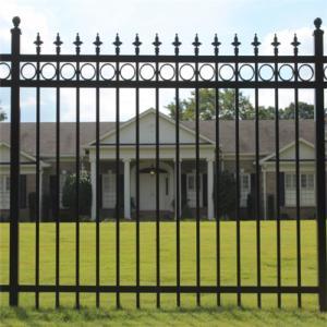 Buy cheap Top Lattice Garden Steel Powder Coated Garrison Fence product
