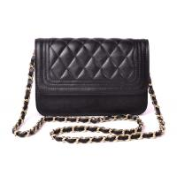 Buy quality Black Soft PU Womens Quilting Chain Shoulder Bag / Small Messenger Bag at wholesale prices