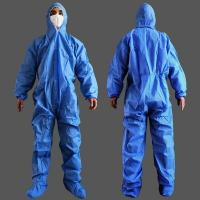 Buy cheap Fluid Resistant Blue Isolation Gowns , Toxic Free Disposable Protective Clothing from wholesalers