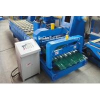 Hydraulic Shearing Glazed Corrugated Sheet Roll Forming Machine PLC Control