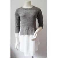 Buy cheap OEM Middle Sleeve Half Circle Ladies Pullover Sweaters For Summer from wholesalers