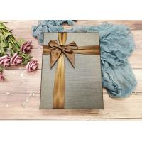Buy cheap Brown Cardboard Gift Boxes With Ribbon Bowknot , Cardboard Decorative Boxes product