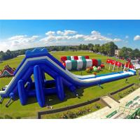 Buy cheap High Safety Giant Inflatable Slip And Slide , Inflatable Slippery Slide CE Certificated product