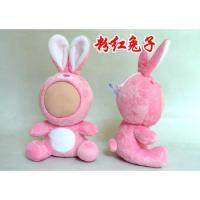 Supply 3d face doll-Large Pink Rabbit