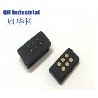 Buy cheap 6Pin Male and Female 1A 2A 3A House-hold Application Device Smart Device Magnetic Pogo Pin Charging Power Connector product