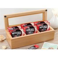 Buy cheap Wood Glass Clear Top Tea Bag Presentation Box  , Coffee Wooden Tea Storage Box product