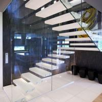Buy cheap Modern Australian style high quality indoor floating solid wood tread open stairs/staircases product