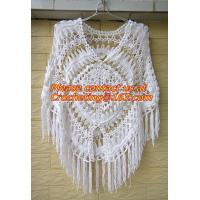 Buy cheap Womens Crochet Poncho Shawl Fringe Girl Floral Sweater Poncho Wrap, ponchoes, crochet product
