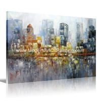 Buy cheap Custom Acrylic Cityscape Oil Painting Thick Texture For Children Room Decoration product
